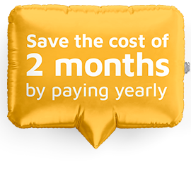 Save the cost of 2 months by paying yearly